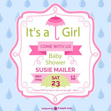 baby shower card template design vector free
