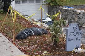 11alive com trump u0027burn in hell u0027 halloween gravestone divides