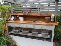 outdoor workbench with storage bench decoration