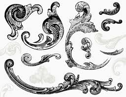 creative fashion engraved ornaments in vector eps