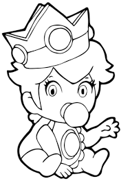 baby princess peach coloring free printable coloring pages