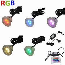 Patio Floor Lights by 7colors 6pcs Set 1w Waterproof Ip67 Round Stainless Steel Driveway