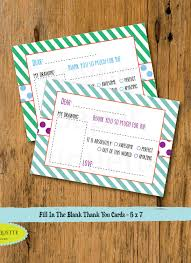 kid u0027s fill in the blank thank you card christmas thank