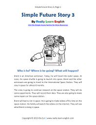free printable story and exercises to practice the english simple