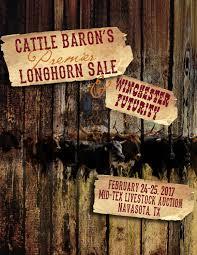 cattle baron u0027s premier longhorn sale u0026 winchester futurity by