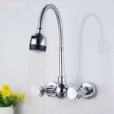 robinet de cuisine mural ulgksd chrome en laiton cuisine robinet mural tuyau
