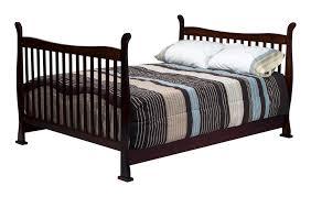 davinci reagan 4 in 1 convertible crib in coffee w toddler rails