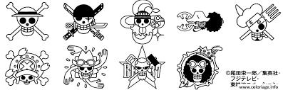 coloriage logos one piece dessin