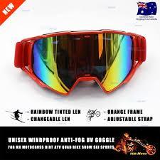 motocross goggles ebay 100 mx orange rainbow changeable lens motocross dirt bike ski