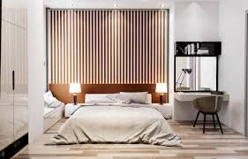 Accent Wall Bedroom Bedroom Bedroom Accent Wall Vertical Spaced Slats Accent Wall