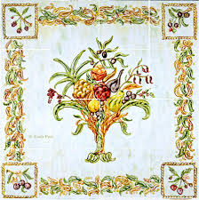 italian design still life kitchen tile backsplash mural deruta