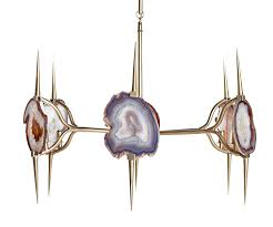 eclipse agate chandelier natural agate slices and satin brass