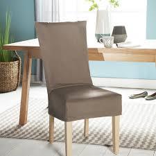 housse de chaise housse de chaise unie courte 100 coton bachette épaisse