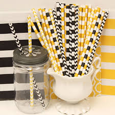 bumble bee party favors paper straws bendy paper straws party birthday nautical