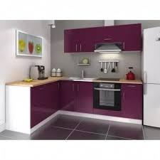 cuisine d angle pas cher cuisine d angle réversible laqué aubergine 26 achat vente