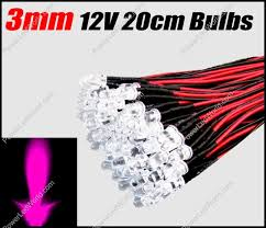 3mm pre wired leds energy saving led light led light bulbs rgb
