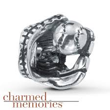 kay jewelers charms kay charmed memories baseball glove charm sterling silver