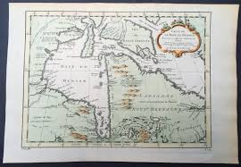 St Lawrence River Map 1757 Bellin Antique Maps X 4 Of Canada Hudsons Bay St Lawrence
