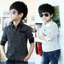 2014 new polka dot design sleeve boys shirts fall