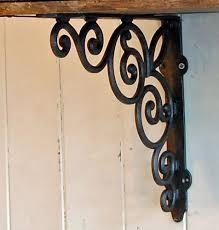 decorative wall shelf with brackets