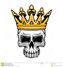king skull in royal gold crown stock vector illustration of