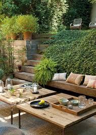 rustic garden furniture for a charming and original decor hum ideas