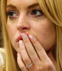 Lindsay Lohan Bedroom Did Lindsay Lohan Write U0027f U U0027 On Her Fingernail For Her