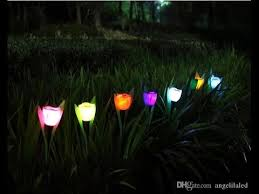 Solar Lighted Outdoor Christmas Decorations by Romantic Solar Led Rose Light Outdoor Landscape Path Colorful