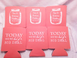koozies for weddings jar wedding can coolers design by odysseycustomdesigns