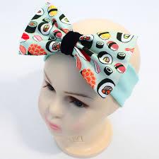bow headband kids cotton bow headband sushi babypanda fi