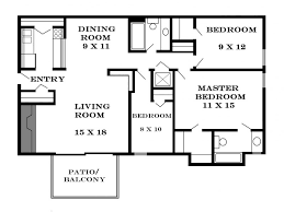 Modern Three Bedroom House Plans - download three bedroom apartment layout home intercine