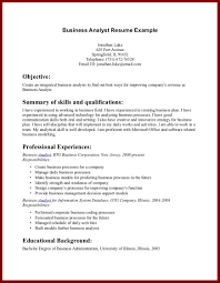 Career Objective Resume Examples by Resume Sample Business Analyst Business Process Analyst Resume