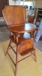 Antique Wooden High Chair Antique High Chair Refinishing On Garford St In Long Beach Ca