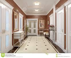 elegant classic and luxurious hall interior design stock