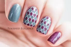 nail art tutorial full nail stamping decal youtube