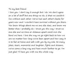 dear best friend letter search quote me