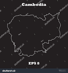 Blank Outline Map Of Jamaica by Cambodia Outline Map Stroke Name Country Stock Vector 285393329