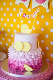 Pink And Yellow Birthday Decorations 22 Best Olivias 1st Birthday Images On Pinterest