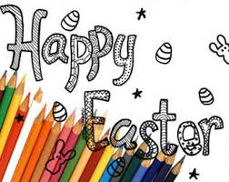 easter coloring etsy