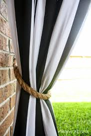 patio curtains diy tieback crazy wonderful