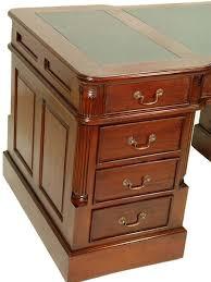 bureau en anglais bureau anglais acajou plateau vert oxford meuble de style