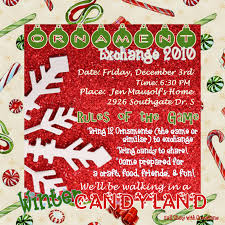 winter candyland ornament exchange