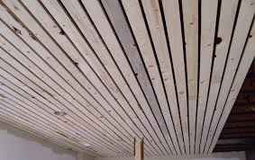 slat board ceiling keeping the boards straight and consistent