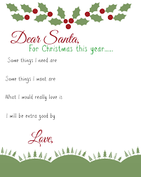 santa gift list dear santa kids wish list printable busy helper