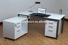 Large White Desk With Drawers Side Table Side Office Table White Melamine With Drawers And