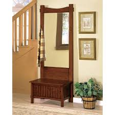 Oak Storage Bench Hall Tree Storage Bench With Mirror Foter Ideas And Regard To Plan