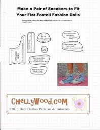 chellywood lots free printable doll clothes patterns