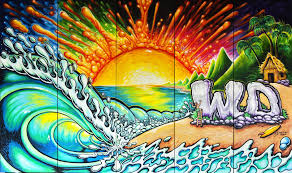 wall murals drew brophy surf lifestyle art art c drew brophy mural painting for western digital ces las vegas show jan