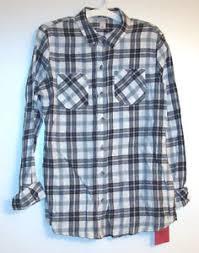 Black And White Plaid Shirt Womens Mossimo Supply Co Womens Black White Plaid Flannel Shirt S M L