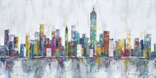 abstract wall new york city skyline cityscape architecture abstract wall